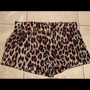 Cheetah print soft shorts